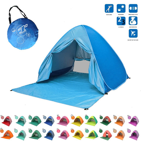 Beach Tent Pop Up Automatic Open Tent Family Ultralight Folding Tent Tourist Fish Camping Anti-UV