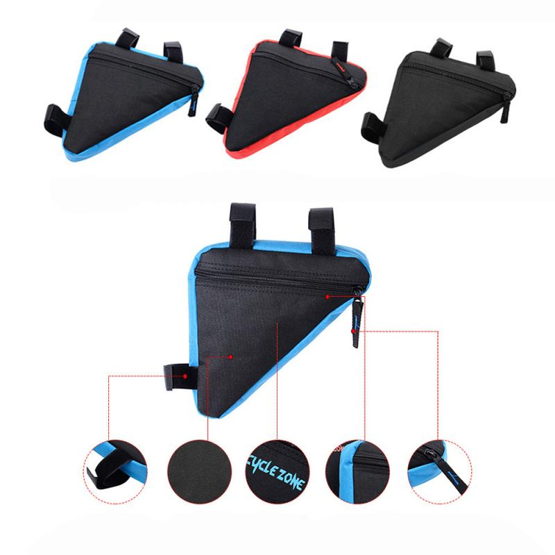 Bicycle Accessories Bike Triangle Bag Bike Front Tube Frame Phone Waterproof Bag Cycling Bike Frame Saddle Bag For Mountain Bike