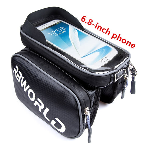 Bicycle Bag Waterproof Front Bike Cycling Bag 6.8 inch Mobile Phone Bicycle Top Tube Handlebar Bags Mountain Cycling Accessories