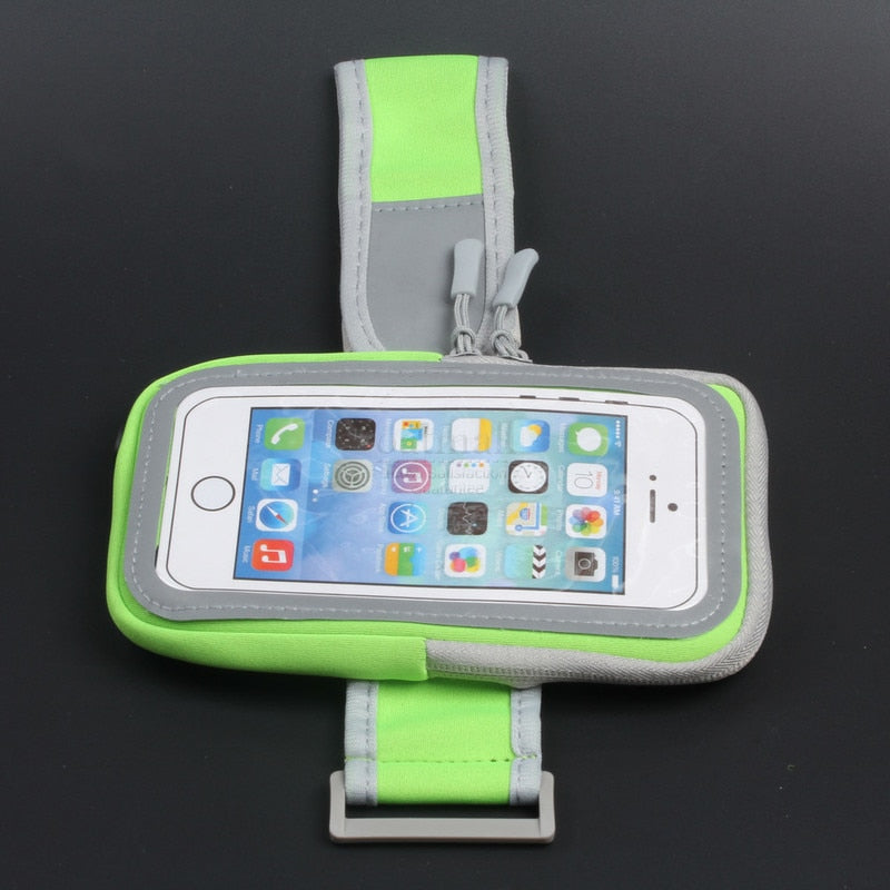 Big Size Men Women Mobile Phone Bags Sports Case For Jogging On Hand Holder Running ArmBand Pouch