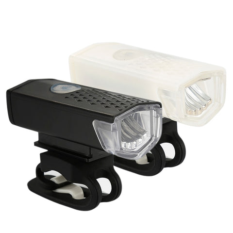 Bike Light USB Rechargeable 300 Lumens Bicycle Lamp Front Headlight Flashlight Bicycle Light Bicycle Accessories