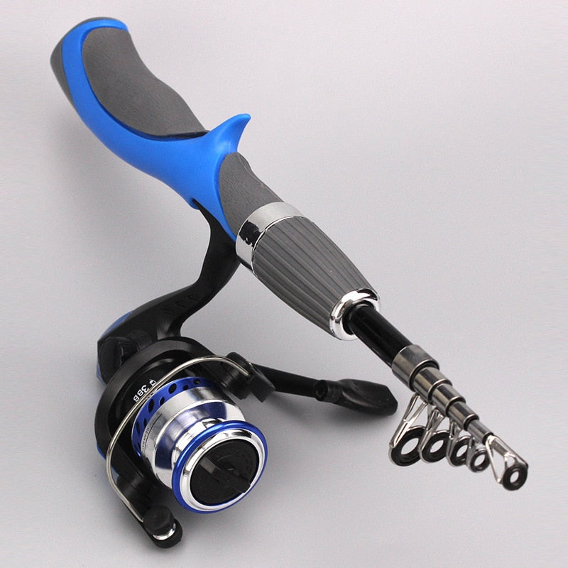 Carbon Fiber Rod Superhard Boat Ice Fly Lure Fishing Rod With High Quality Fishing Reel Fishing Tackle set De Pesca 1.4m Length