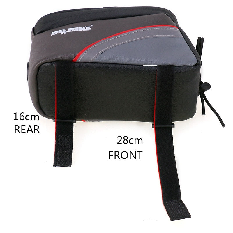 DRBIKE PU Material Waterproof Bicycle Bag Bike Frame Front Top Tube Bag Touch Screen for Moilbe Phone MTB Moutain Road Bike Bag