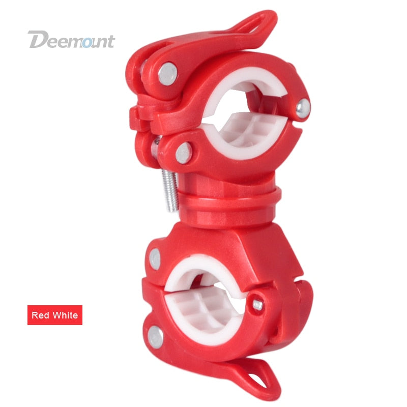 Deemount Bicycle Light Bracket Bike Lamp Holder LED Torch Headlight Pump Stand Quick Release Mount