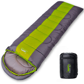 Desert & Fox Camping Sleeping Bag, Lightweight 4 Season Warm & Cold Envelope Backpacking Sleeping