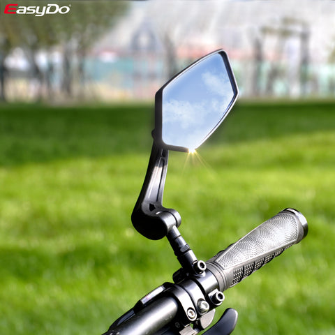 EasyDo Bicycle Rear View Mirror Bike Cycling Wide Range Back Sight Reflector Adjustable Left Right