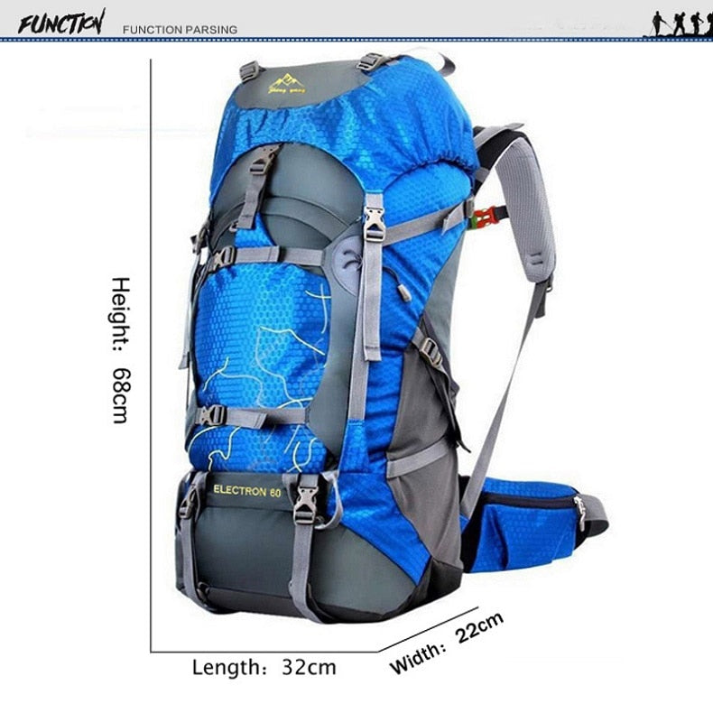 FengTu 60L Hiking Backpack Daypack For Men And Women Waterproof Camping Traveling Backpack Outdoor