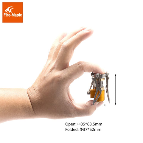 Fire Maple Camping Burners Outdoor Hiking Ultralight Rocket Stove FMS-300T Mini Titanium Stove