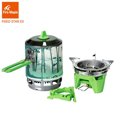 Fire Maple Camping Gas Burners Outdoor Backpacking Cooking System 2200W 0.8L 600g With piezo
