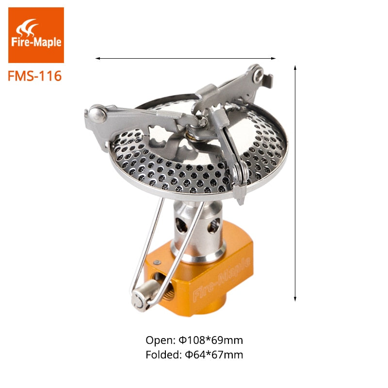 Fire Maple Outdoor Gas Stove One-Piece Stainless Big Burner Camping Equipment Folding Lightweight