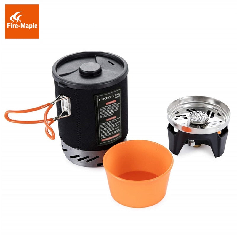 Fire Maple Star X1 Camping Stoves Outdoor Hiking Cooking System With Stove Heat Exchanger Pot Bowl