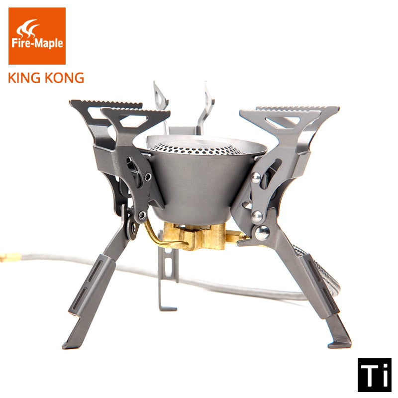 Fire Maple Titanium Gas Burners Camping Equipment Ultralight Foldable Burners FMS-100T Split Gas