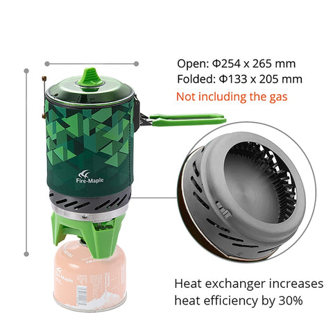 Fire Maple X2 Outdoor Gas Stove Burner Tourist Portable Cooking System With Heat Exchanger Pot