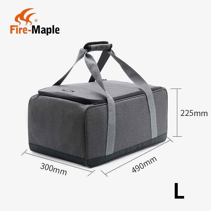 Fire Maple picnic basket outdoor camping gas stove, gas canister, pot carry bag storage sack (only a