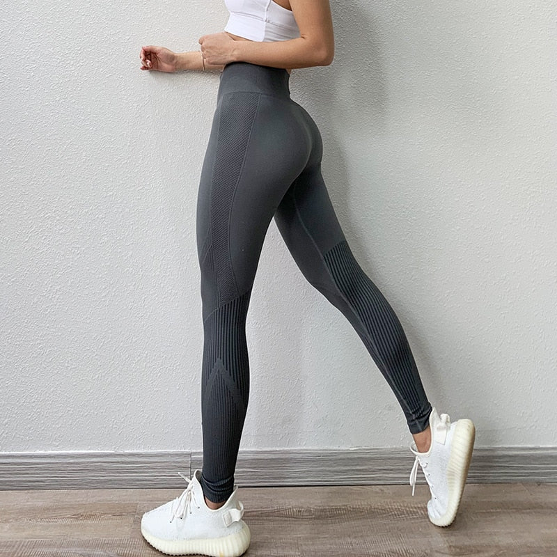 Fitness High Waist Legging Tummy Control Seamless Energy Gymwear Workout Running Activewear Yoga