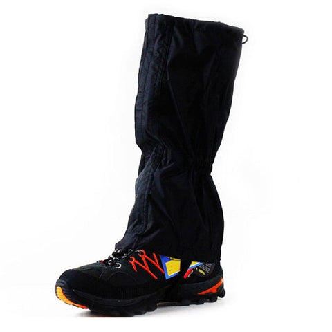 1 Pair Black Waterproof Outdoor Hiking Walking Climbing Hunting Snow Legging Gaiters