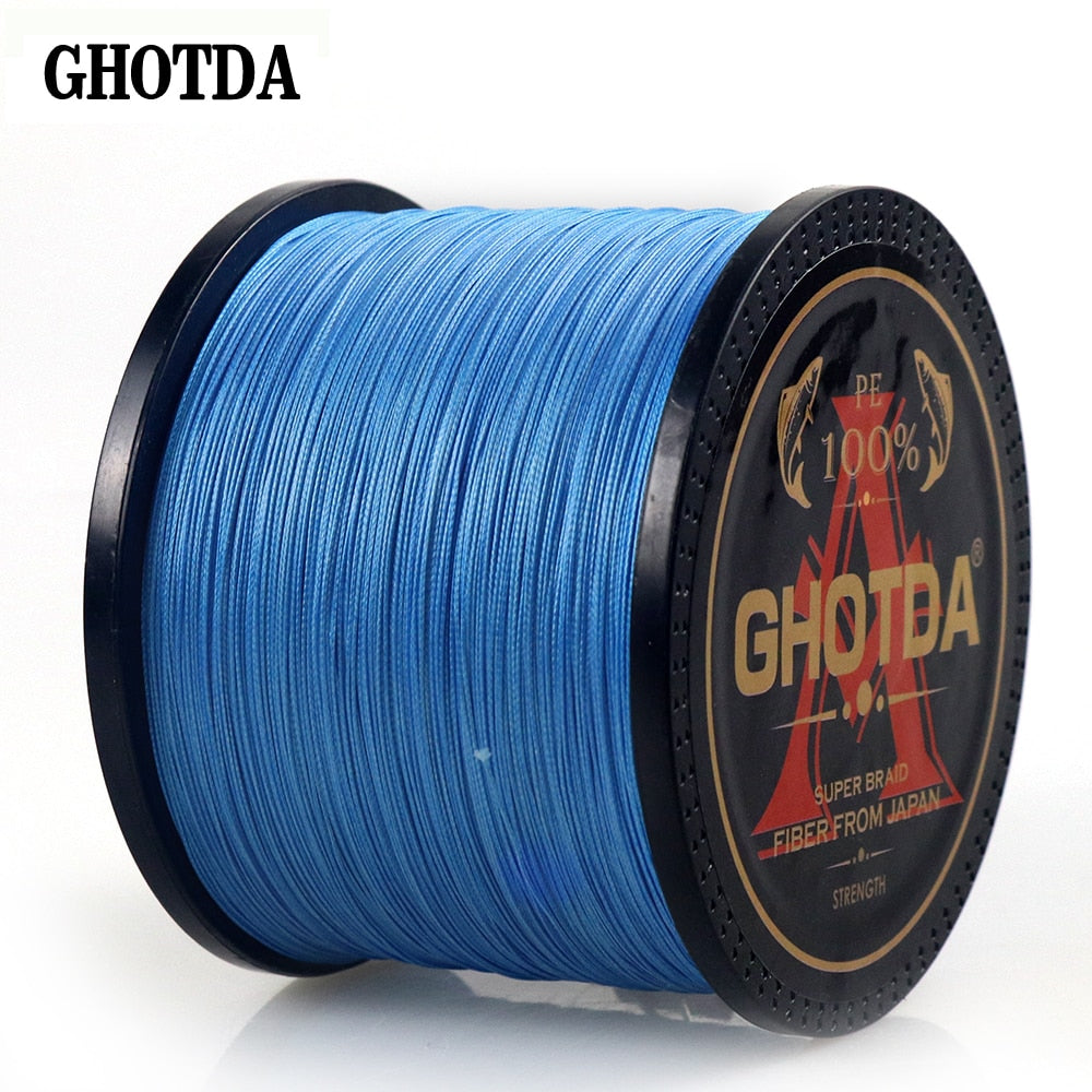 GHOTDA Braid Fishing line 300M 500M 1000M 8 Strands Multifilament Fishing Wire Carp Fishing 13-119lb