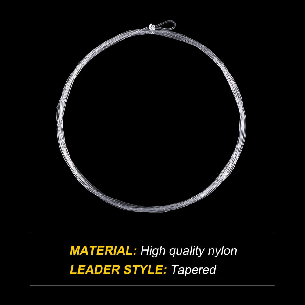 Goture 5pcs Tapered Leader Fly Fishing Line 9FT/2.74M 0X/1X/2X/3X/4X/5X/6X/7X Fly Line Leader With