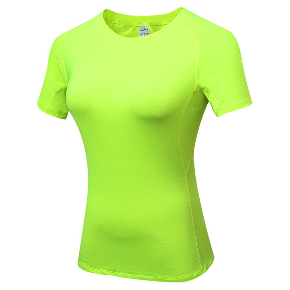 Gym T shirt Compression Tights Women's Sport T-shirt Dry Quick Running Short Sleeve T-shirts Fitness
