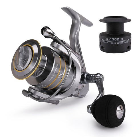 High Quality 14+1 BB Double Spool Fishing Reel 5.5:1 Gear Ratio High Speed Spinning Reel Carp Fishing Reels For Saltwater