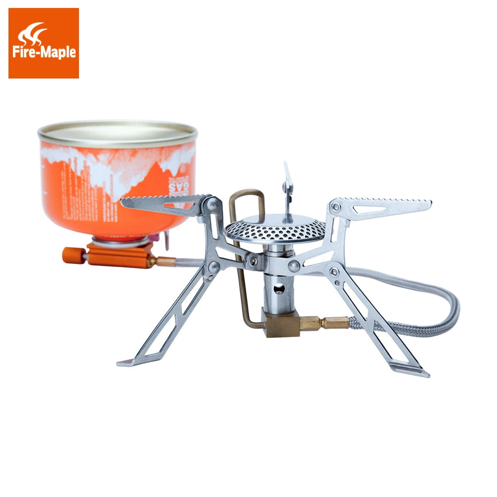 Hiking Gas Stoves Outdoor Picnic Stove Fire Maple Ultralight Portable Stainless Steel Gas Furnace