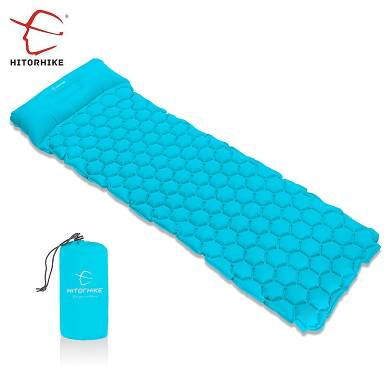 Hitorhike Topselling Inflatable Sleeping Pad Camping Mat With Pillow air mattress Sleeping Cushion