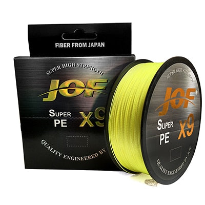 JOF X9 500M 300M 100M Braided Fishing Line 9 Strands MultiColor Multifilament Saltwater PE Line 20