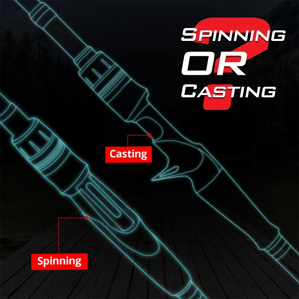 KastKing Blackhawk II Carbon Spinning Casting Rod M, MH Power Ultralight Telescopic Fishing Rod 2.03m, 2.16m , 2.21m , 2.28m