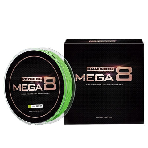 KastKing Mega8 Strong 137M 274M 457M 8 Strand Weaves PE Braided Fishing Line Multifilament 10LB 15LB