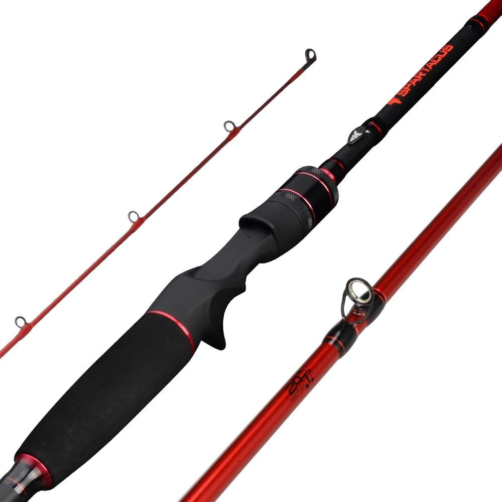 KastKing Spartacus Rod Carbon Body Casting Fishing Rod with 2 Rod Tips