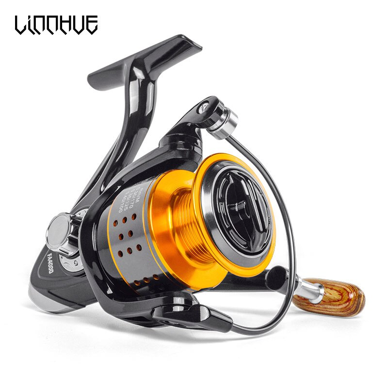 LINNHUE Fishing Reel FA1000-6000 No Gap Metal Spool Max Drag 8KG Pike Spinning Reel High Speed 5.2:1 Reel Fishing Gear Pesca