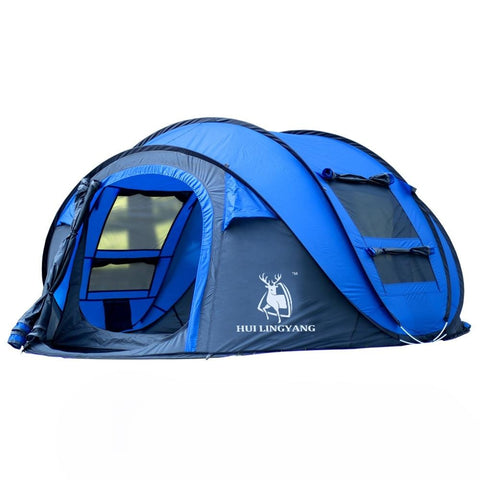 Large throw tent outdoor 3-4persons automatic speed open throwing pop up windproof waterproof