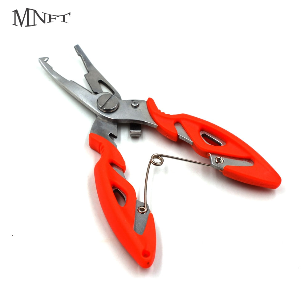 MNFT 12cm Fishing Pliers Line Cutter Hook Remover  Remover Line Cutter Tools Fish Use Tongs Scissors Fishing Pliers 5 Colors