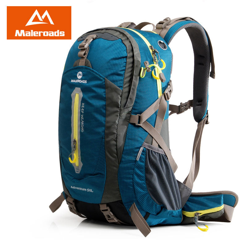 MALEROADS Camping Backpack Hiking Backpack for Men Wowen Travel Rucksack Climb Gear