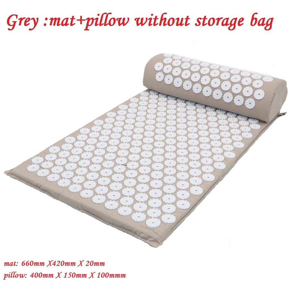 Massager Cushion Massage Yoga Mat Acupressure Relieve Stress Back Body Pain Spike Mat Acupuncture