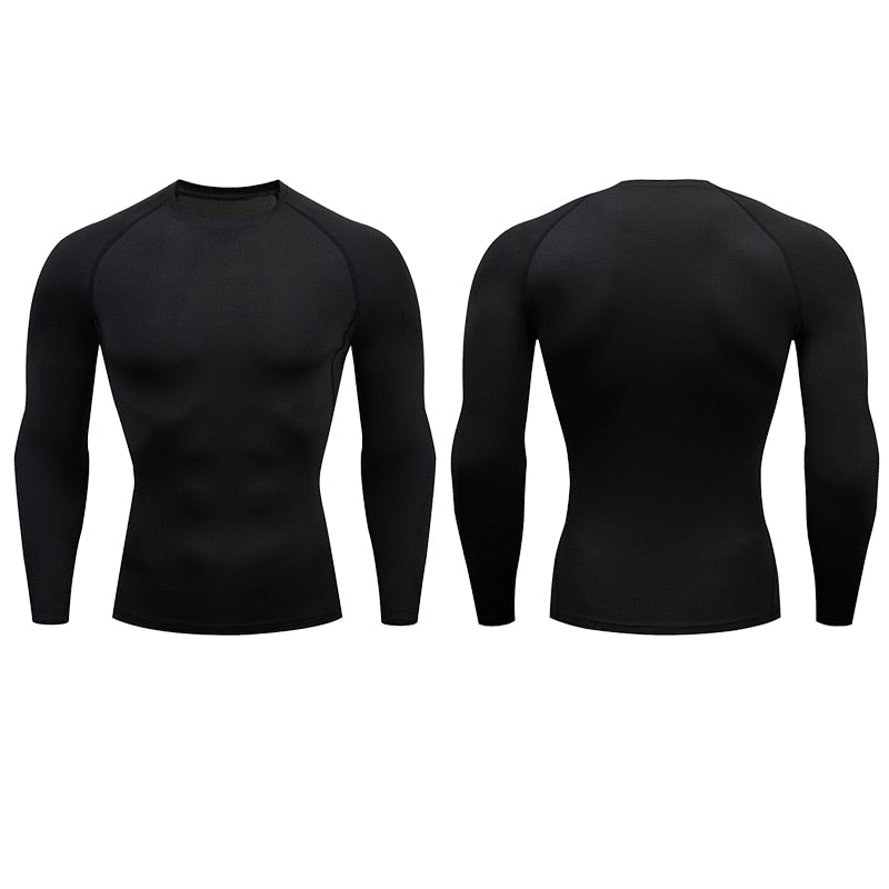 Men Compression Running T Shirt Fitness Tight Long Sleeve Sport tshirt Training Jogging Shirts Gym