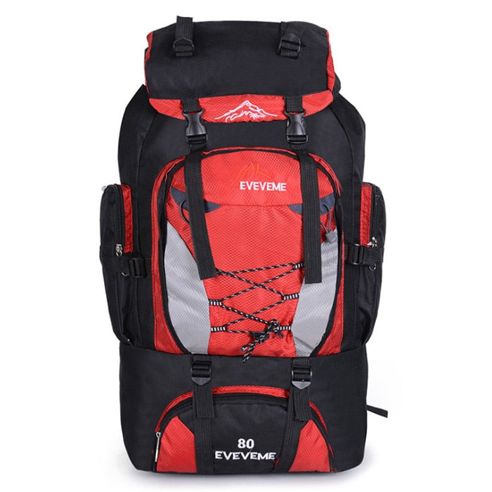 Men's 80L Large Hiking Mountaineering Backpack Climbing Hiking Backpack Camping Backpack Sport