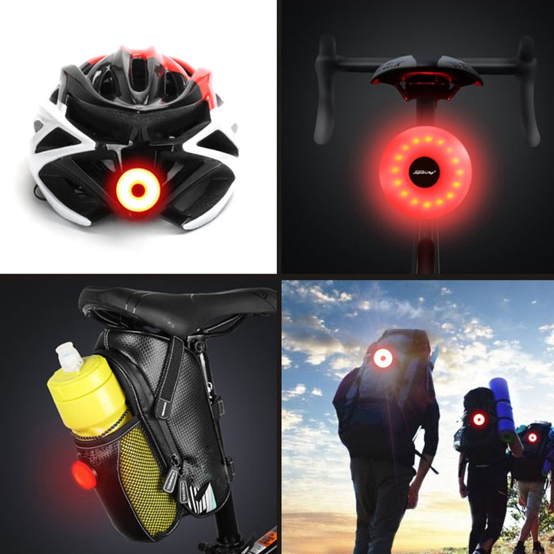 Mini LED Bicycle Tail Light Usb Chargeable Bike Rear Lights IPX5 Waterproof Safety Warning Cycling