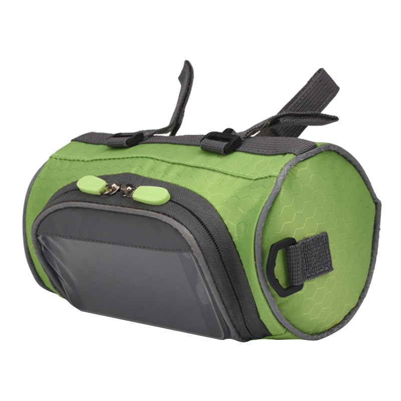 Mountain Bike Bicycle Bags Panniers Touch Screen Cycling Phone Bag Case Road Bike Front Tube Handlebar Cylinder Bag