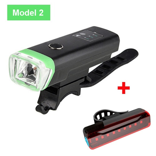 NEWBOLER Smart Induction Bicycle Front Light Set USB Rechargeable Rear Light LED Headlight Bike Lamp