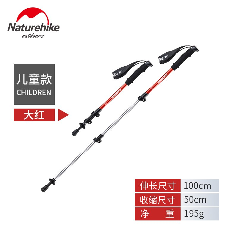 Naturehike 1pcs Adult Child Alpenstocks Ultralight Trekking Folding Pole Walking Hiking Sticks