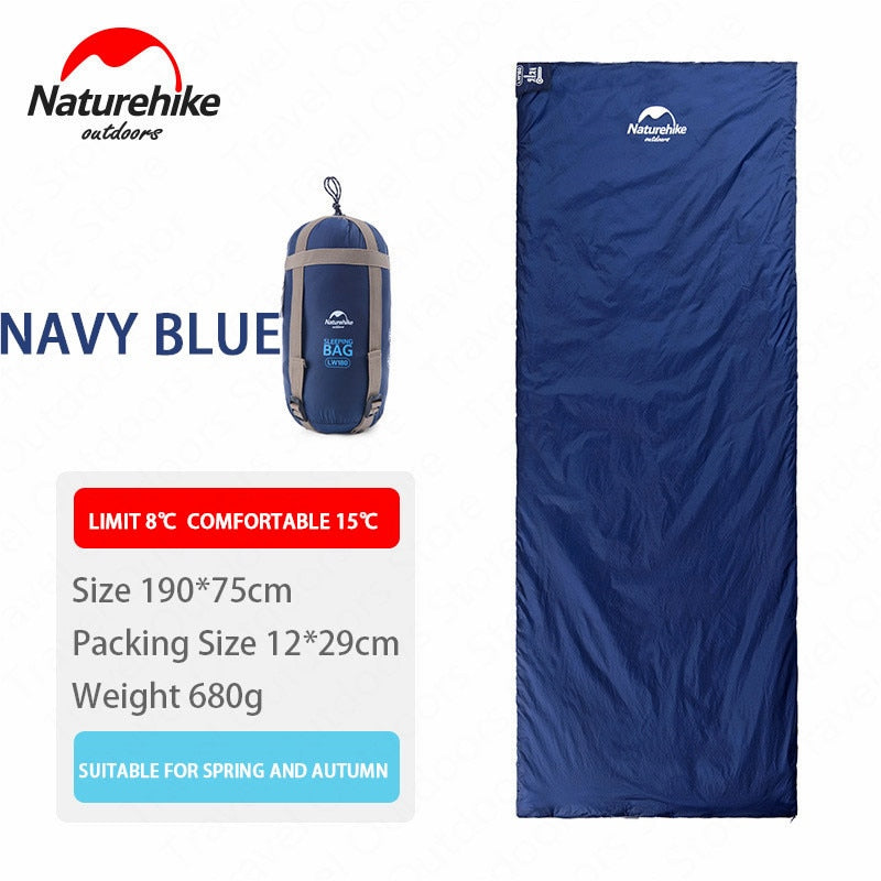 Naturehike 2 Persons Sleeping Bag Envelope Type Splicing Portable Outdoor Ultralight Sleeping Bag