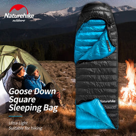 Naturehike CW400 Sleeping Bag Ultralight Winter Goose Down Hiking Sleeping Bag Cold Weather
