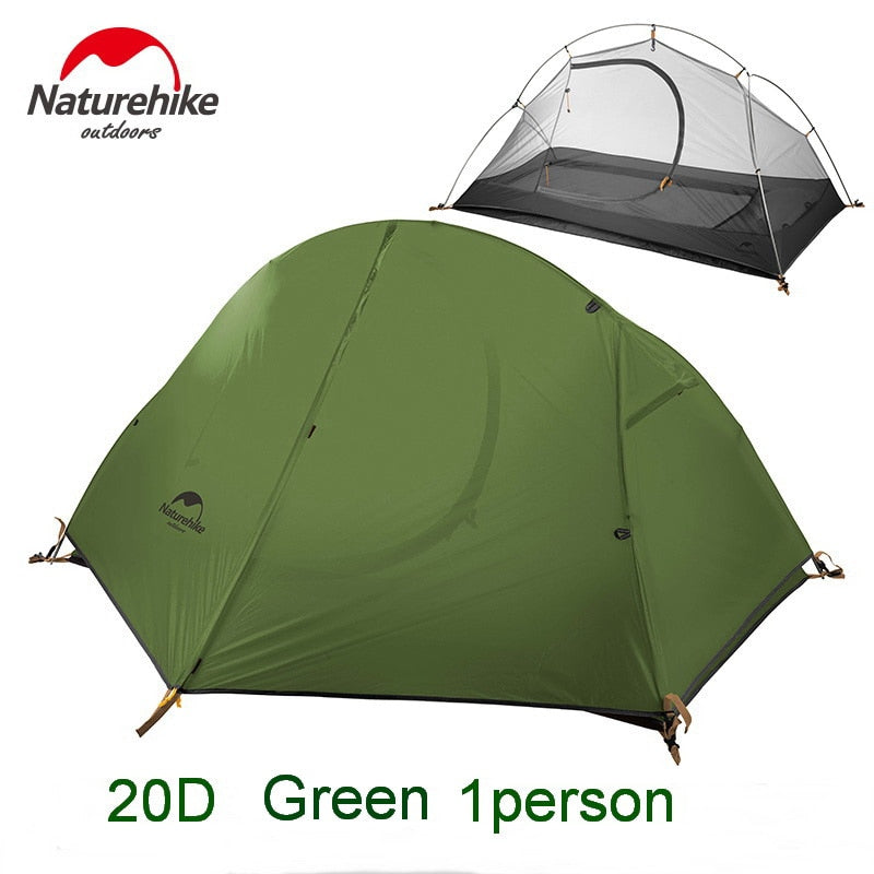 Naturehike Cycling Single Tents Waterproof 1 2 Person Backpacking Trekking Mountain PU4000 Camping
