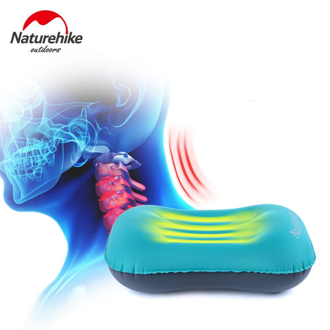 Naturehike  Inflatable Pillow Travel Air Pillow Neck Camping Sleeping Gear Fast Portable TPU