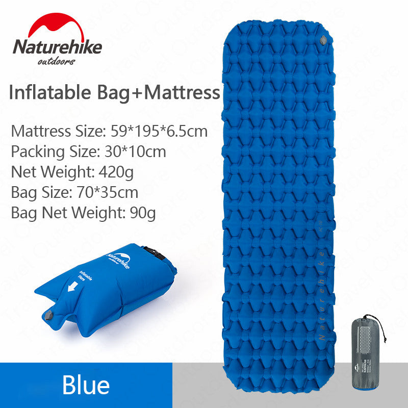 Naturehike Outdoor Camping Mat Inflatable Bag Inflatable Tent Sleeping Pad Ultralight Portable
