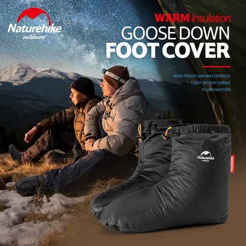 Naturehike Sleeping Bag Accessories Goose Down Slippers Outdoor Camping Down Socks Warm, Water