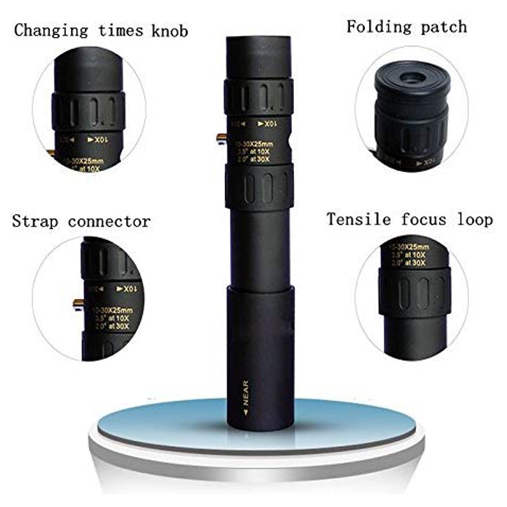 Original Binoculars 10-30x25 Monocular high quality Telescope Pocket Binoculo Hunting Optical