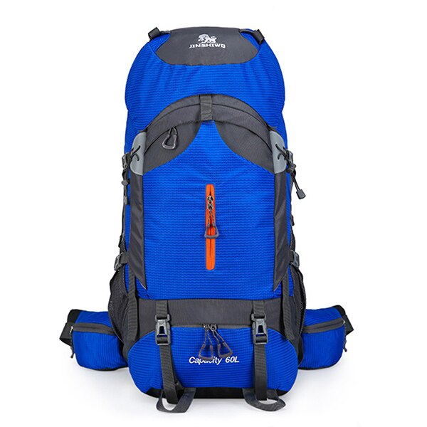 Outdoor 60L Camping Hiking Rucksack Large Capacity Trekking Climbing Backpack Aluminum Alloy Support