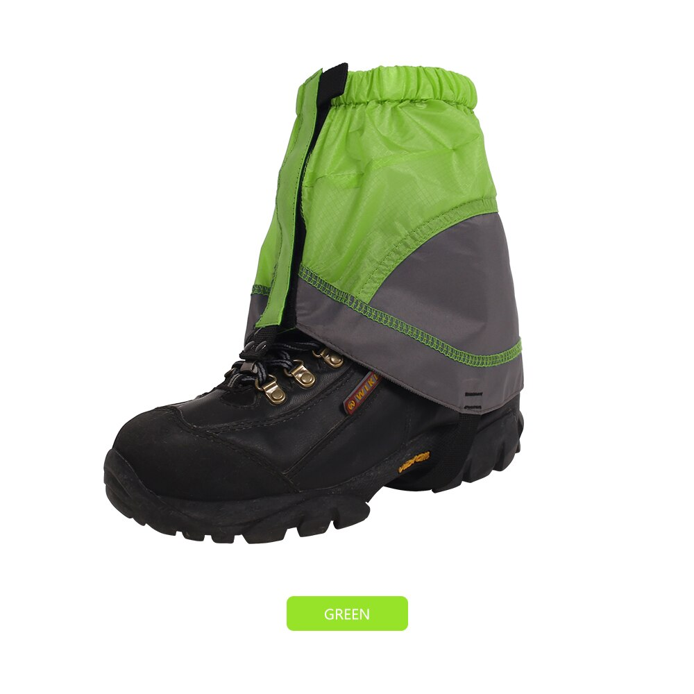 Outdoor Silicon Coated Nylon Snow Leg Gaiters Waterproof Ultralight Legging Protection Guard Shoes
